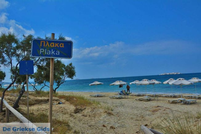 Plaka strand op Naxos